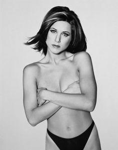 Обнаженная Дженнифер Энистон в фотосессии Марка Селиджера фото #5