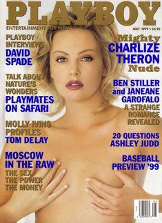Полностью голая Шарлиз Терон в журнале Playboy фото #1