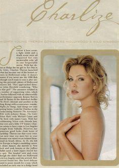 Полностью голая Шарлиз Терон в журнале Playboy фото #2