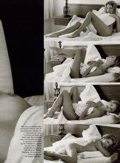 Полностью голая Шарлиз Терон в журнале Playboy фото #7