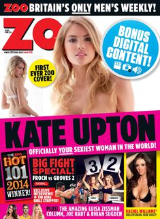 Возбуждающая Кейт Аптон в журнале ZOO фото #1