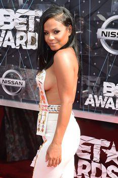 Оголенная грудь Кристины Милиан на премии BET Awards фото #4