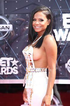 Оголенная грудь Кристины Милиан на премии BET Awards фото #10
