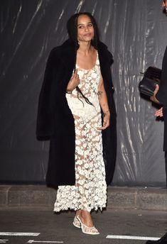 Зои Кравиц без бюстгальтера на 95-й годовщине Vogue фото #7