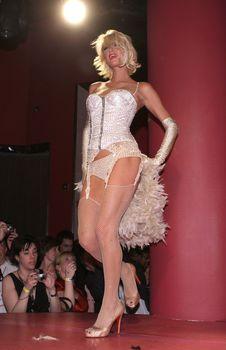 Возбуждающая Пэрис Хилтон в белье для Бурлеска с Pussycat Dolls фото #11