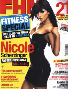 Страстная Николь Шерзингер в журнале FHM фото #1