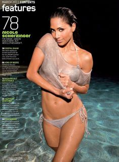 Николь Шерзингер разделась для журнала Maxim фото #2