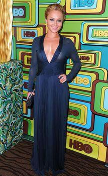 Хайден Панеттьери в прозрачном платье на вечеринке после «Золотого глобуса» фото #4