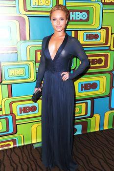 Хайден Панеттьери в прозрачном платье на вечеринке после «Золотого глобуса» фото #5