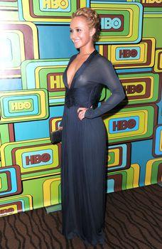 Хайден Панеттьери в прозрачном платье на вечеринке после «Золотого глобуса» фото #6