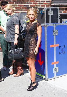 Откровенное платье Хайден Панеттьери на Late Show, США, Июль 2009 фото #1