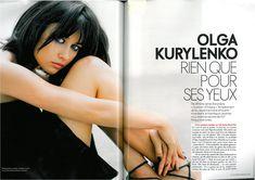 Заманчивая красотка Ольга Куриленко в журнале Elle, Франция, Октябрь 2008 фото #2