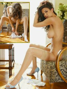 Полностью голая Тиффани Тейлор  в журнале Playboys Nude Playmates фото #6
