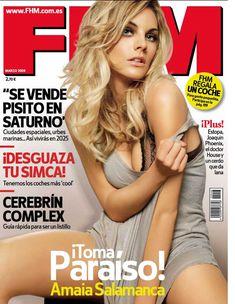 Сексуальная Амайя Саламанка снялась в эротическом наряде в журнале FHM фото #1