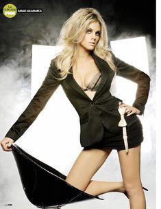 Сексуальная Амайя Саламанка снялась в эротическом наряде в журнале FHM фото #4