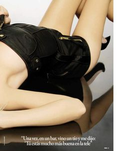 Сексуальная Амайя Саламанка снялась в эротическом наряде в журнале FHM фото #7