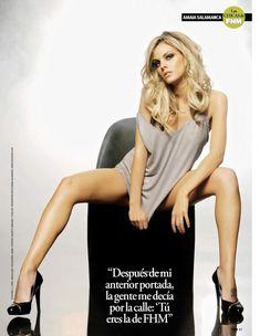 Сексуальная Амайя Саламанка снялась в эротическом наряде в журнале FHM фото #9