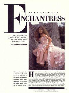 Эротичная Джейн Сеймур в шикарном наряде для журнала Playboy фото #2