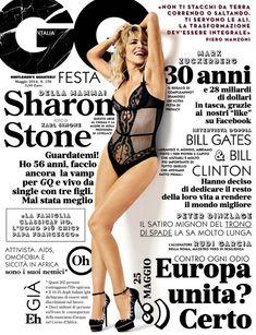 Секси Шэрон Стоун  в журнале GQ фото #1