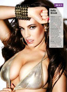 Пышный бюст Келли Брук в журнале Nuts фото #1