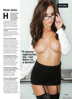 Обнаженная Рози Джонс в журнале Nuts фото #1