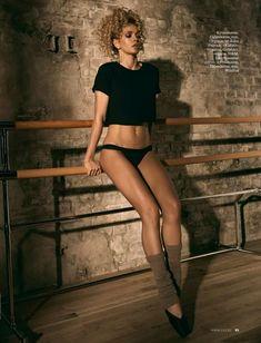 Вера Брежнева в белье для журнала ELLE фото #3
