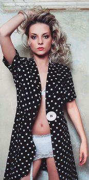 Секси Дарья Сагалова в белье для журнала SIM фото #4