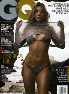 Секси Джессика Бил в журнале GQ фото #2