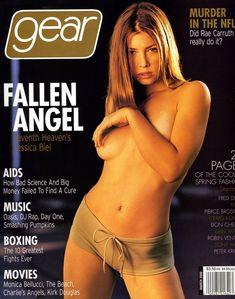 Обнаженная Джессика Бил в журнале Gear фото #1