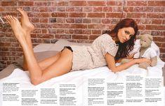 Телеведущая Ирена Понарошку в белье для журнала фото #4
