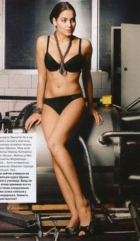 Юлия Снигирь в нижнем белье для журнала FHM фото #6