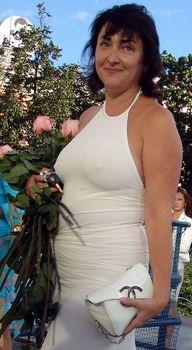 Крупные соски Лолиты Милявской под платьем фото #1