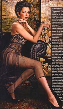 Виктория Талышинская в эротическом белье для журнала XXL фото #3