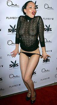 Даша Астафьева в прозрачном платье снимает трусики на 55-ой вечеринке Playboy фото #2