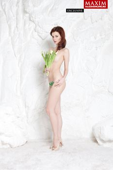 Обнаженная Мария Климова в журнале «MAXIM» фото #1