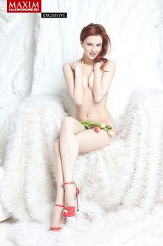 Обнаженная Мария Климова в журнале «MAXIM» фото #4