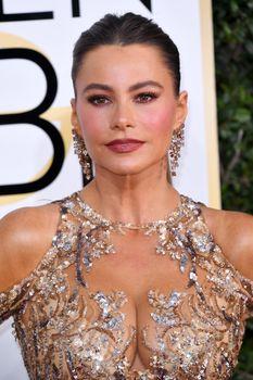 София Вергара в эротическом наряде на Golden Globe Awards фото #2
