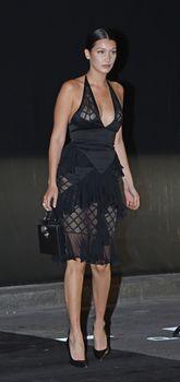 Белла Хадид в прозрачном платье на Vogue's 95th Anniversary Party фото #6