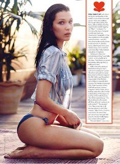 Белла Хадид в ярких купальниках для GQ фото #2