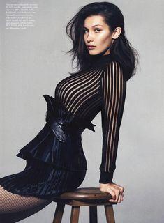 Эро фотосессия Беллы Хадид для Elle фото #7