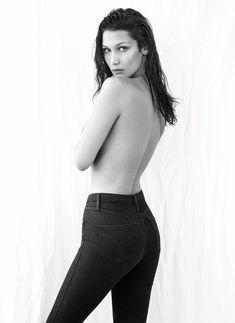 Сексуальная Белла Хадид на фото для журнала Flare фото #3