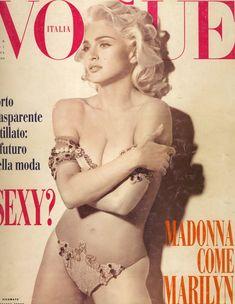 Молодая Мадонна снялась обнажённой для итальянского Vogue фото #1