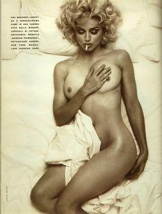 Молодая Мадонна снялась обнажённой для итальянского Vogue фото #3