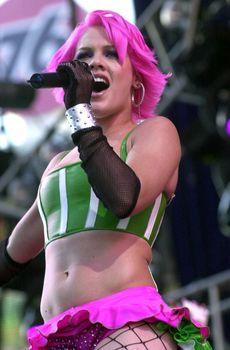 Розовые трусики Пинк на концерте Wango Tango фото #2