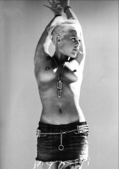 Обнажённая грудь Пинк для фотосессии от Брайана Адамса фото #2