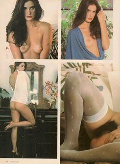 Обнажённая Деми Мур позирует для порнографического журнала Oui фото #11