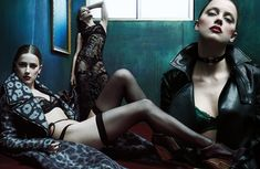 Эмбер Хёрд в эротическом белье для журнала W фото #3