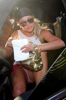 Сексуальная Бритни Спирс раздвинула ножки и засветила трусики фото #2