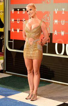 Шикарная грудь Бритни Спирс в сексуальном наряде на MTV Video Music Awards фото #6