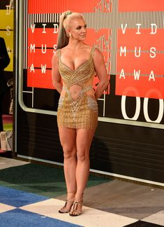 Шикарная грудь Бритни Спирс в сексуальном наряде на MTV Video Music Awards фото #8